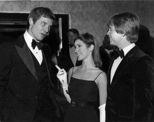Carrie Fisher -Princess Leia- bekent dat ze seks had met Harrison Ford op de Star Wars set